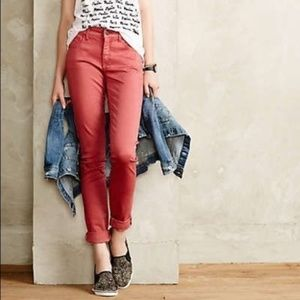 B2G1 Anthropologie Pilcro Coral Chino Pants